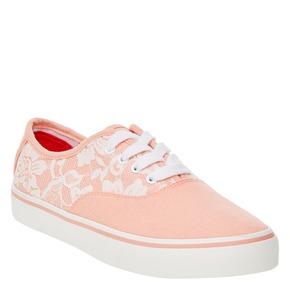 Sneakers con pizzo north-star, rosa, 549-5222 - 13
