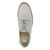Scarpe basse di pelle con suola colorata bata, grigio, 826-2839 - 19
