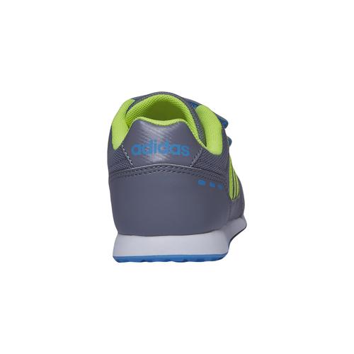 Sneakers da bambino con chiusure a velcro adidas, grigio, 309-2147 - 17