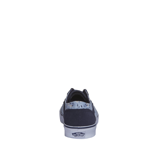 Sneakers da donna con stampa floreale vans, blu, 503-9700 - 17