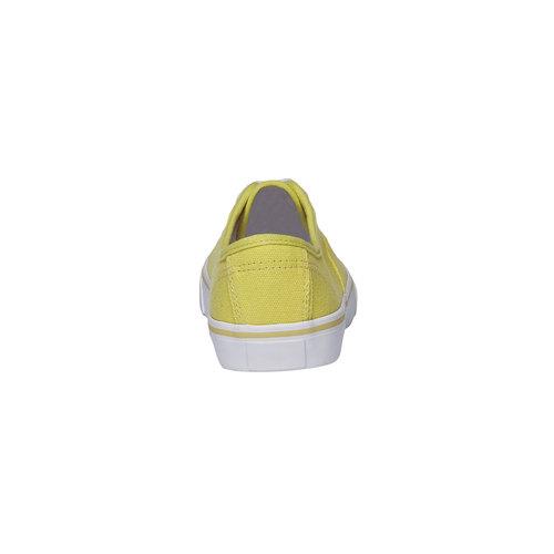 Sneakers di tela con suola bianca north-star, giallo, 549-8221 - 17
