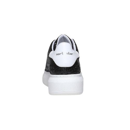 Sneakers da donna con glitter north-star, nero, 541-6223 - 17