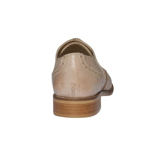 Scarpe basse da donna in pelle con decorazione bata, beige, 524-8488 - 17