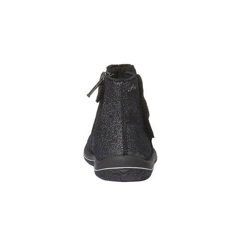 Stivaletti in pelle alla caviglia di colore metallizzato primigi, nero, 193-6100 - 17