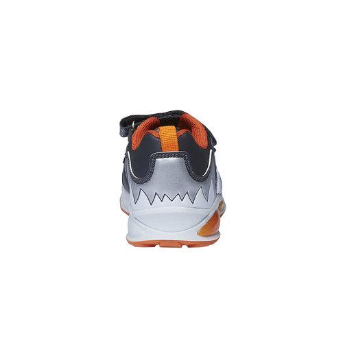 Sneakers da bambino con chiusure a velcro mini-b, grigio, 211-2155 - 17