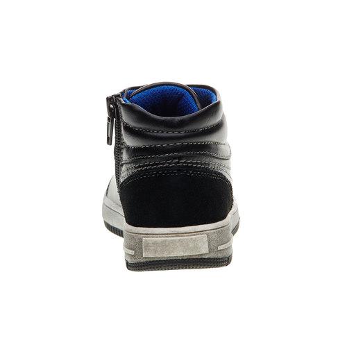 Sneakers da bambino alla caviglia mini-b, nero, 211-6133 - 17