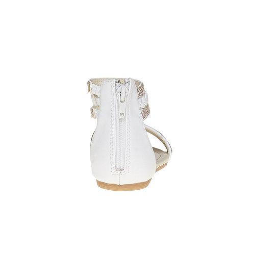 Sandali da ragazza con strass mini-b, bianco, 361-1178 - 17