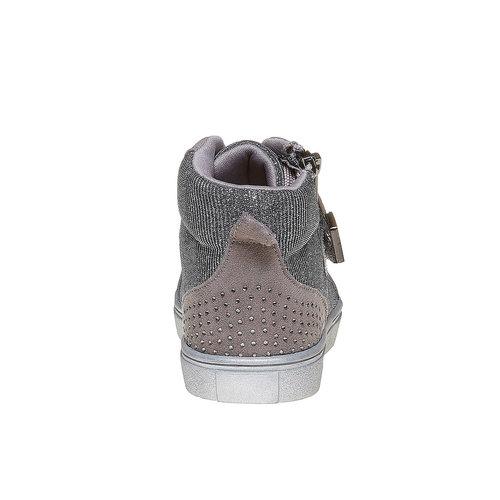 Sneakers da bambina con strass mini-b, grigio, 229-2173 - 17