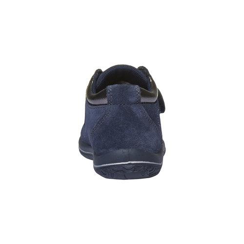 Scarpe in pelle alla caviglia con cuoricini primigi, viola, 123-9112 - 17