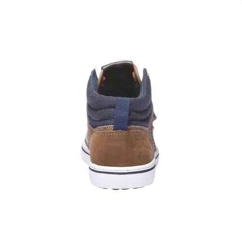 Sneakers da bambino alla caviglia mini-b, giallo, 311-8131 - 17