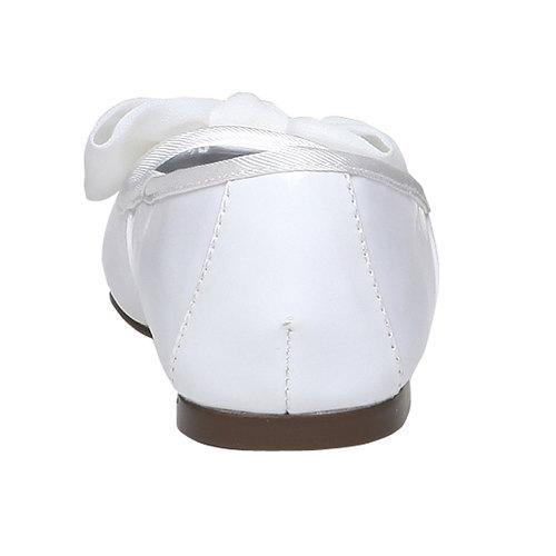Ballerine da ragazza con fiocco mini-b, bianco, 321-1191 - 17