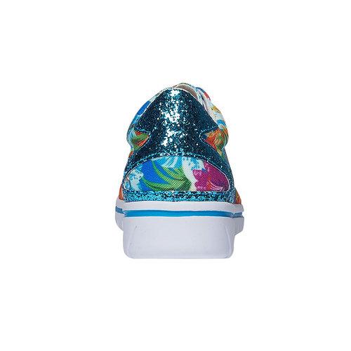 Sneakers da donna con motivo floreale north-star, viola, 549-9230 - 17