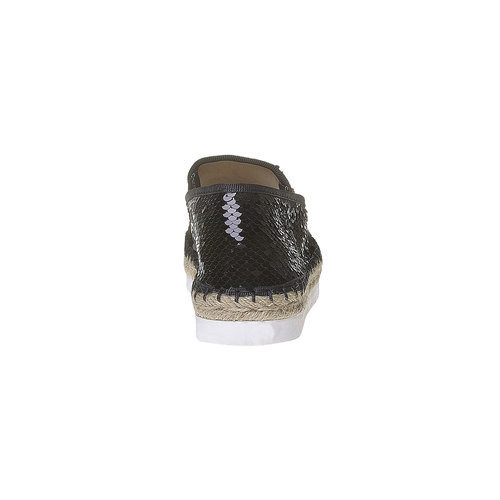 Slip-on da donna con paillettes bata, nero, 559-6102 - 17