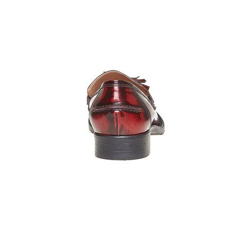 Loafers in pelle con nappe bata, rosso, 514-5246 - 17
