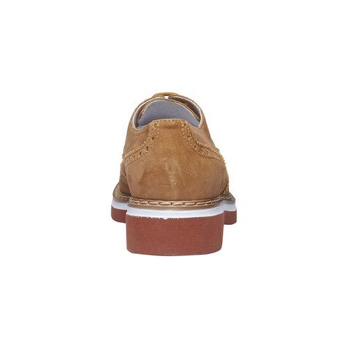 Scarpe basse da donna in pelle con suola appariscente bata, marrone, 523-3489 - 17