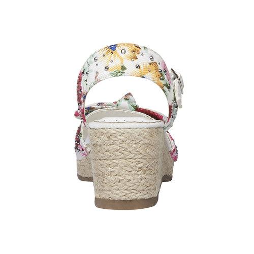 Sandali da bambina con plateau mini-b, bianco, 369-1168 - 17