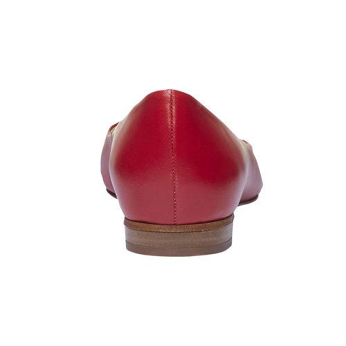 Ballerine da donna in pelle a punta bata, rosso, 524-5493 - 17