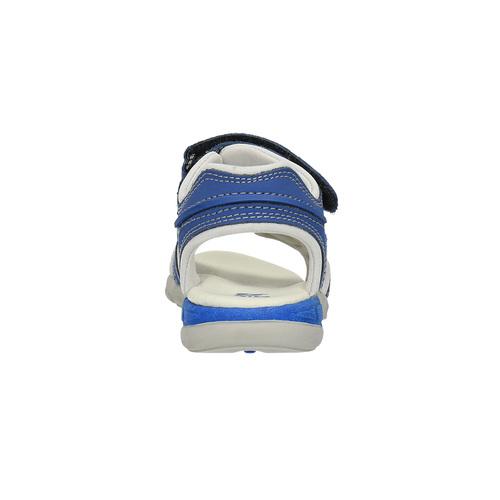 Sandali da bambino con strisce di pelle mini-b, blu, 264-9166 - 17