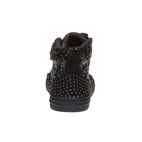 Sneakers nere da bambina con glitter mini-b, nero, 329-6216 - 17