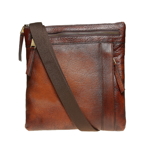 Borsa Crossbody da uomo in pelle bata, marrone, 964-4138 - 26