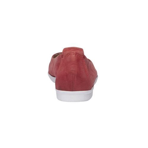 Ballerine di pelle con perforazioni bata-light, rosso, 526-5486 - 17