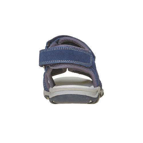 Sandali sportivi da bambino con chiusura a velcro mini-b, blu, 463-9107 - 17