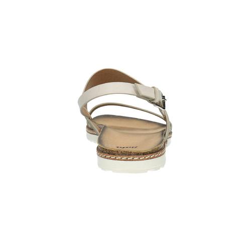 Sandali da donna bata, beige, 561-8294 - 17