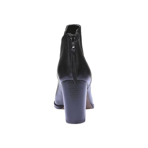 Scarpe di pelle alla caviglia bata, nero, 794-6576 - 17