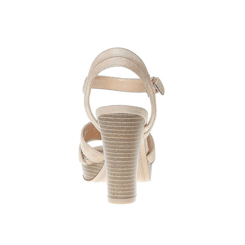 Sandali da donna con strisce bata, beige, 769-4484 - 17