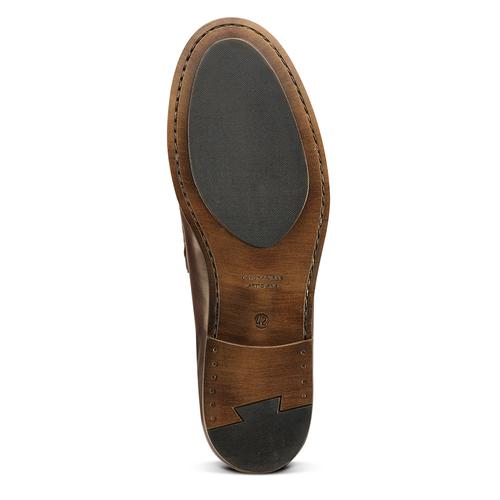 Scarpe da uomo in pelle in stile Loafer bata, marrone, 814-4128 - 17
