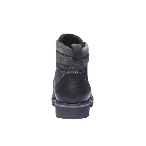 Scarpe di pelle alla caviglia bata, nero, 894-6343 - 17