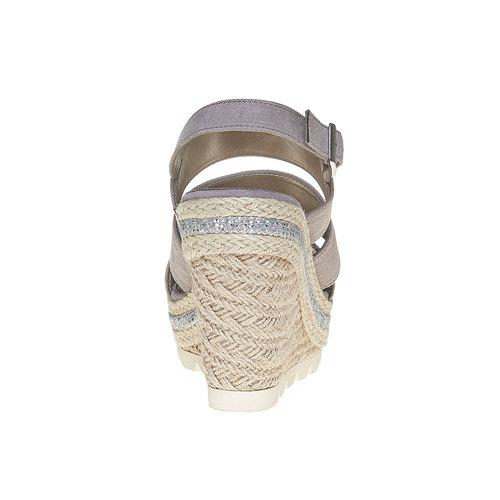 Sandali con plateau appariscente bata, grigio, 769-2552 - 17