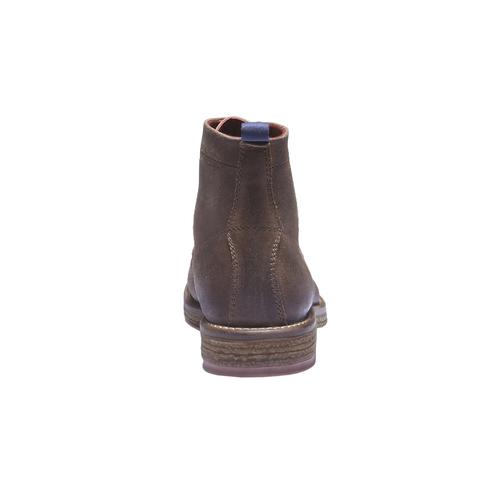 Scarpe di pelle alla caviglia bata, marrone, 893-3204 - 17