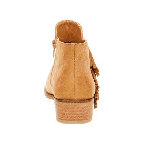 Stivaletti alla caviglia con frange bata, marrone, 599-3102 - 17