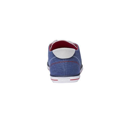 Sneakers da uomo con tomaia in denim bata, viola, 849-9663 - 17