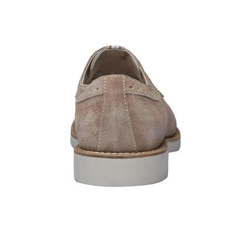 Scarpe basse informali di pelle bata, giallo, 823-8769 - 17