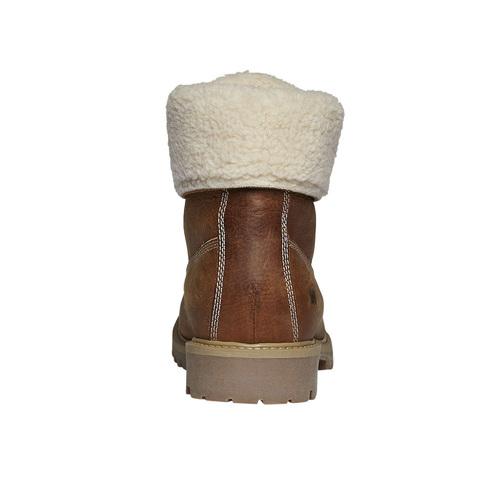 Scarpe di pelle con pelliccia weinbrenner, marrone, 594-3823 - 17