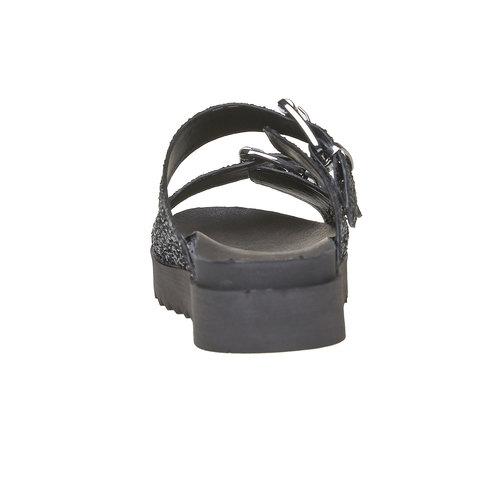 Slip-on scure da donna con paillettes bata, nero, 561-6309 - 17