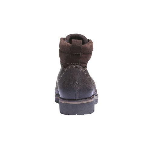 Scarpe di pelle alla caviglia bata, marrone, 894-4343 - 17