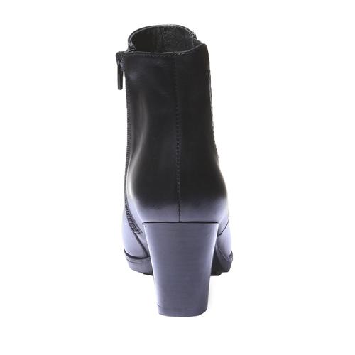 Scarpe di pelle alla caviglia bata, nero, 794-6564 - 17