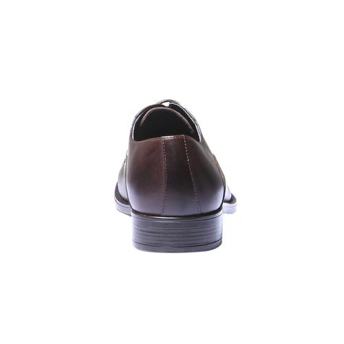 Scarpe basse di pelle in stile Derby bata, marrone, 824-4874 - 17