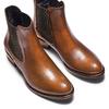Scarpe di pelle in stile Chelsea bata, marrone, 594-4448 - 17