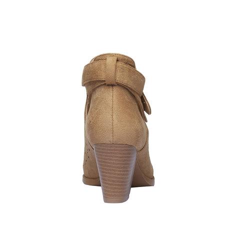 Stivaletti alla caviglia con perforazioni bata, marrone, 799-3627 - 17