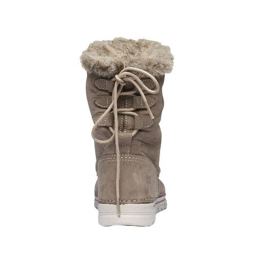 Scarpe di pelle alla caviglia weinbrenner, grigio, 596-2334 - 17