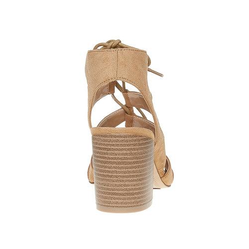 Sandali con lacci bata, beige, 769-8536 - 17