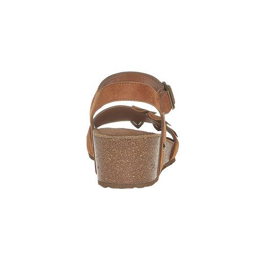 Sandali con tacco a zeppa bata, marrone, 569-3403 - 17