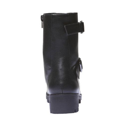 Scarpe da donna con lacci bata, nero, 691-6152 - 17
