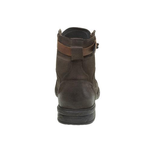 Scarpe di pelle alla caviglia bata, khaki, 894-2165 - 17