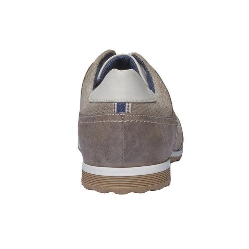 Sneakers informali di pelle bata, giallo, 843-8637 - 17
