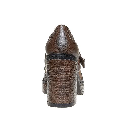 Kiltie Oxford con tacco alto bata, marrone, 721-4191 - 17